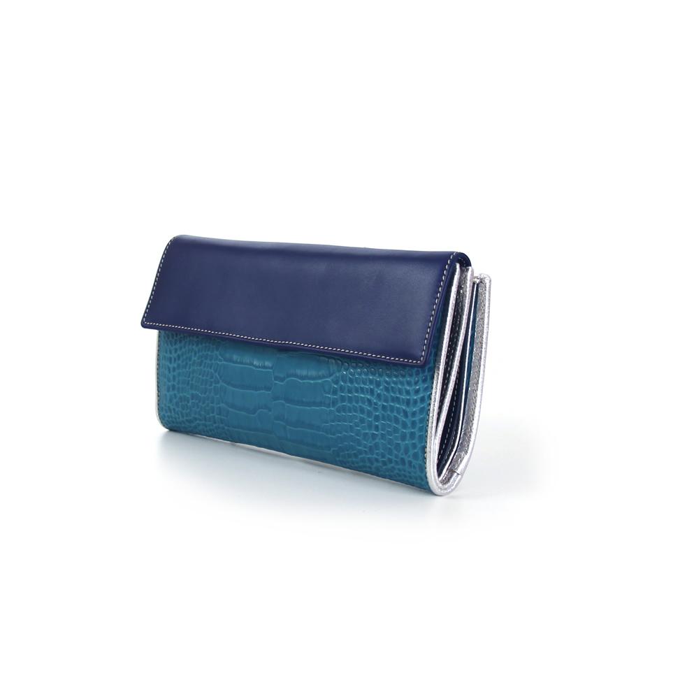 cartera javia azul
